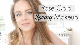 Rose Gold Makeup | Non Cakey All Natural Makeup featuring Bellapiere