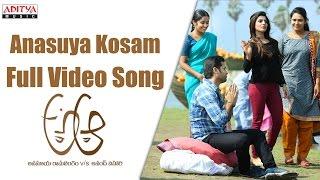 Anasuya Kosam Full Video Song    A Aa Full Video Songs    Nithin, Samantha, Trivikram width=