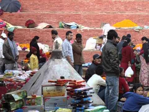 Kathmandu, Durbar Square, Tihar time. Nepal. 2012