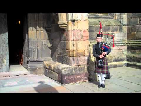 Scottish Wedding Piper St Andrews Scotland