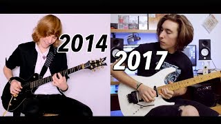3 Years Guitar Progress - Same Solo Before and Now