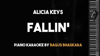Fallin - Alicia Keys (Piano Karaoke with Lyrics)