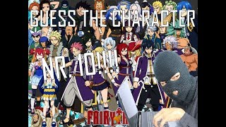 Guess the Anime Character #10!!! [FAIRY TAIL EDITION] [NORMAL DIFFICULTY]