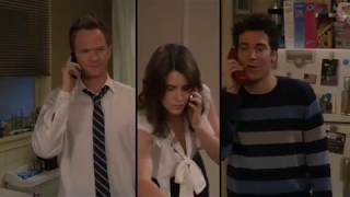 Ted and Barney drunk fight over Robin