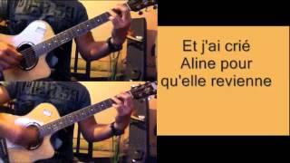 Christophe - Aline - karaoké sur guitare acoustique