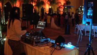 DJ CARMIN WONG LIVE PERFORMANCE, FESS PARKER, HILTON RESORT, SANTA BARBARA, CALIFORNIA