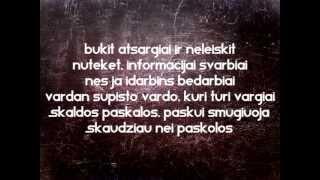 JUSTICIOUS x LUKULIA - ČIULBAVAIBALOS #LYRIC#