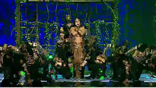 Sunny leone performance in Film-fare award 2018-hosted by shahrukh khan width=