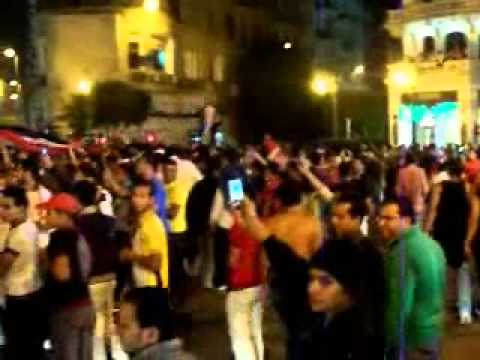 Soccer Fans Going Wild in Cairo, Egypt