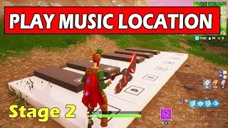 """""""Play the Music Sheet at the Piano near Pleasant Park"""" LOCATION STAGE 2 (FORTNITE WEEK 6 CHALLENGE)"""