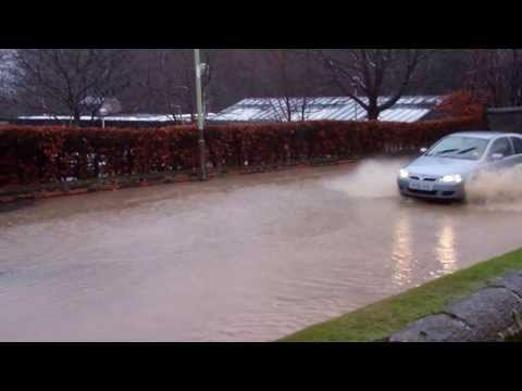 Flooding Perth To Blairgowrie Perthshire Road Scotland