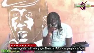 Le message de l'artiste engagé  Tiken Jah Fakoly au peuple du Togo