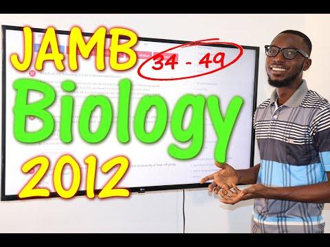 JAMB CBT Biology 2012 Past Questions 34 - 49
