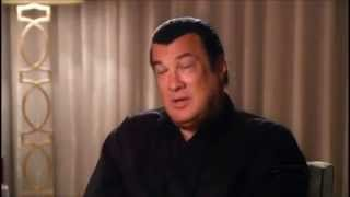 Steven Seagal insults Chuck Norris! Then gets scared!
