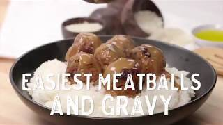 Easiest Meatballs and Gravy