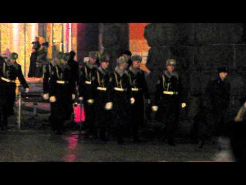 Marching police in Kiev, Ukraine.