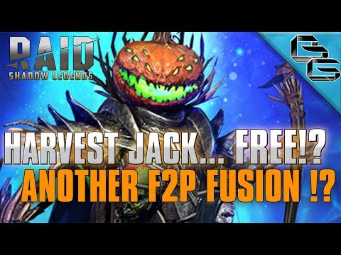 RAID: Shadow Legends | HARVEST JACK...FREE !?! | ANOTHER F2P LEGENDARY FUSION !?!