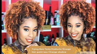Trying New Products / Fenty  New Products / Orange Hair Paint Wax
