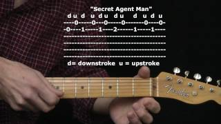 """Secret Agent Man"" by Johnny Rivers : 365 Riffs For Beginning Guitar !!"