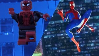 LEGO SPIDER-MAN: INTO THE SPIDER-VERSE Official Trailer Side by Side