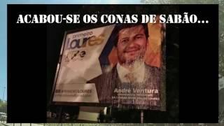 #Rapaziada1906 - Cartaz André Ventura vandalizado no Infantado em Loures