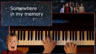 Home Alone - Somewhere in my memory - Piano and Lyrics