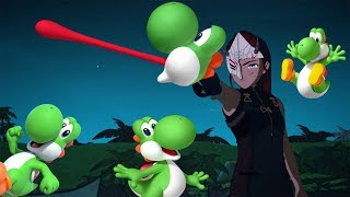 Ilia Amitola fights but her whip makes Yoshi sounds