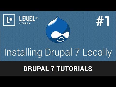 Drupal 7 Tutorials #1 - Installing Drupal 7 Locally