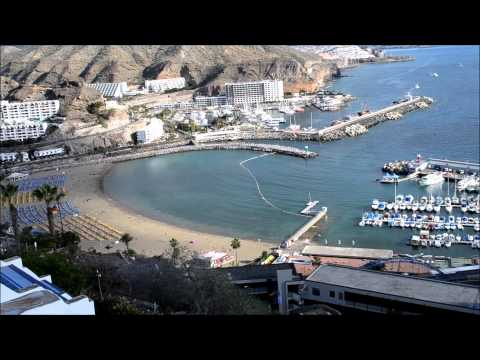 Fantastic view from Hotel Puerto Azul over Puerto Rico at Gran Canaria