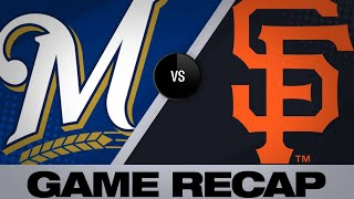 Giants use long ball to down Brewers, 5-3   Brewers-Giants Game Highlights 6/14/19