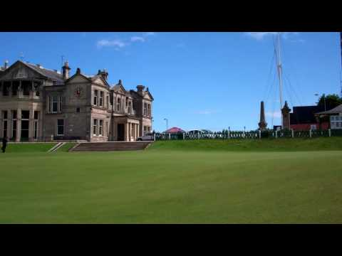 Aerating 18th Green Old Golf Course St Andrews Fife Scotland