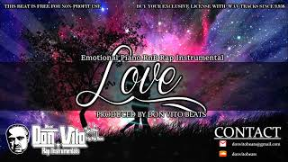 Emotional Sad Piano RnB Free Rap Instrumental - LOVE | Don Vito Beats
