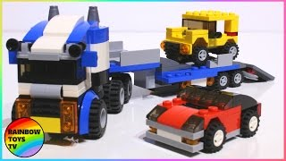 LEGO Toys for Kids | Creator 3 In 1 Vehicle Transporter Build (31033) Sports Car and an Off-Roader