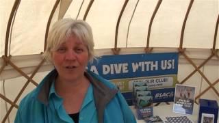 Mary Tetley from BSAC says hello from Scubafest Cornwall 2014