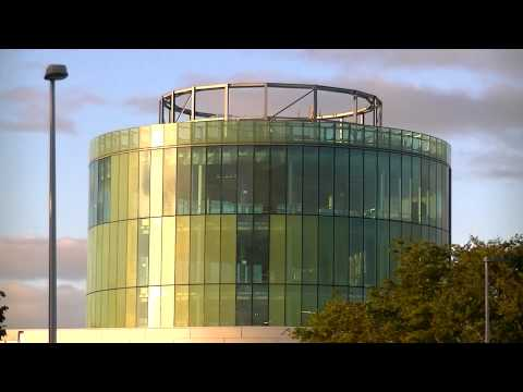 Sunrise and Reflections Timelapse at the Library Tower Robert Gordon University Aberdeen