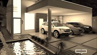 projeto casa terrea moderna terreno 10x25 3 suites 3 vagas garagem lazer