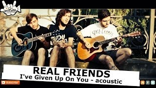REAL FRIENDS - I've Given Up On You (acoustic) | www.pitcam.tv