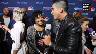"Jayna Brown Talks New Single ""Heart Shaped Box"" at America's Got Talent w/ @RobertHerrera3"