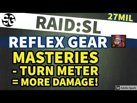 [RAID SHADOW LEGENDS] REFLEX ARTS & SUPPORT MASTERIES! INSANE TURN METER INCREASE!