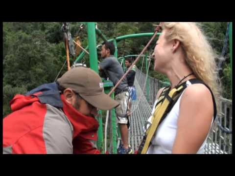 Canyon Swing on Bhote Kosi river (HD)