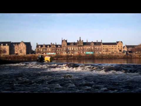 Tractor River Tay Perth Perthshire Scotland February 7th