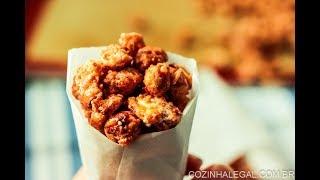 Amendoim doce crocante com 3 ingredientes - Amendoim cri ci