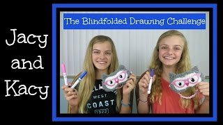 Blindfolded Drawing Challenge ~ Jacy and Kacy