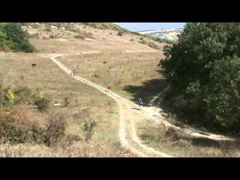 Mountain biking in Crimea, Ukraine