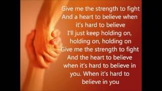 Holding On -- Jamie Grace