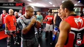 Os campeões do UFC na Team Nogueira SP - Zona Sul