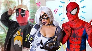 SPIDER-MAN & DEADPOOL meet BLACK CAT - Real Life Superhero Movie - Seinfeld Parody