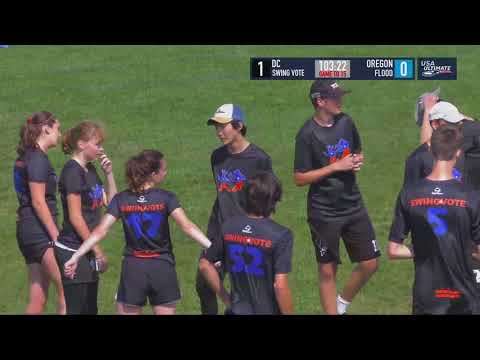 Video Thumbnail: 2018 U.S. Open Club Championships, YCC U-20 Mixed Pre-Quarter: Oregon Flood vs. Washington D.C. Swing Vote