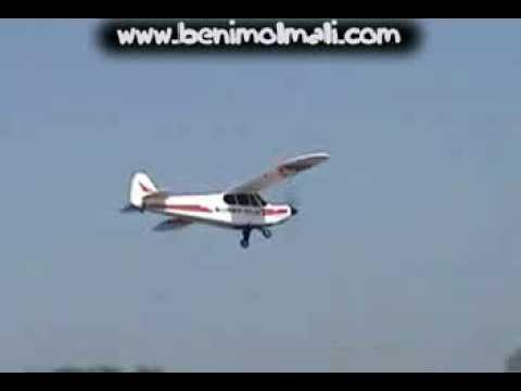 Top Gun Park Flite Super Cub video Uçak Seti www.benimolmali.com