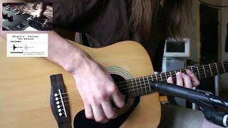 Yamaha F310 Acoustic Guitar ● Line 6 PodHD500 Post-Rock Preset. Shure Sm57